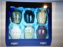 Keepsake Pet Urn, Pakistan Green Onyx Urn, Vase