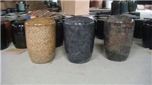 Bahama Blue Granite Funeral Urns, Blue Granite Urns for Ashes, Tombstones/Monuments Accessories