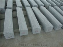 China Cheap Popular G603 Light Grey Granite Flamed Bevel Edge Kerbstones, Chamfered 5*5cm Curbstones, Granite Road Side Stone, Garden Paving Decoration, Natural Building Stone Curbs, Kerbs Project