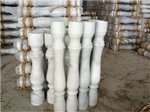 Guangxi White Marble Balusters, China Cheap White Marble Balustrades, Marble Handrail Railings