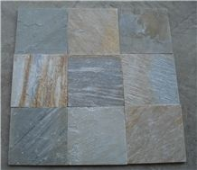 Yellow Slate Tiles, Wood Like Slate Wall Cladding Tiles, Yellow Slate Floor Tiles
