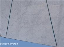 Bianco Carrara C Marble Tiles & Slabs, White Marble Tiles & Slabs Italy