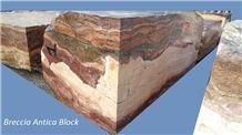 Breccia Antica Marble blocks, multicolor marble blocks