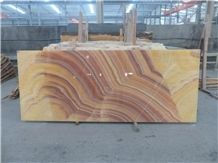 Natural Polished Red Dragon Onyx Slabs & Tiles, China Beige Onyx