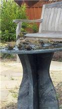Belvedere Soapstone Bird Bath