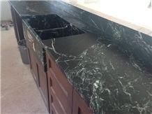 Pratima Soapstone Countertop with Farm Sink
