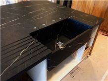 Rio Grande Soapstone Kitchen Countertop with Farm Sink