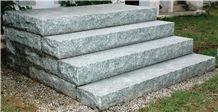 Royal Grey Granite Block Steps, India