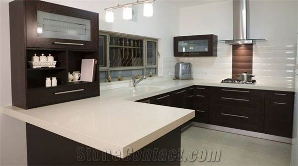 Quartz stone solid countertop with bright surface for 3 4 inch granite countertops