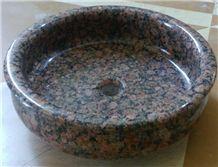Baltic Brown Granite  , Granite Washing Basin ,Baltic Brown Granite Basin,Grey  Vessel Sinks