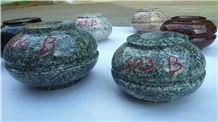 Kuppam Green Granite Vase, Verde Green Granite Vase India