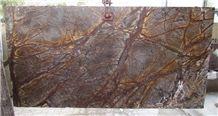 Rainforest Brown Marble, Bidasar Brown Slabs and Tiles