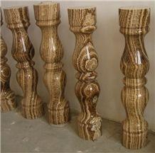 Wood Grain Brown Marble Balustrade & Railings