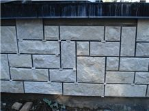 Bush-Hammered Calcite Crystal White Marble Cultured Stone in Kaiquanstone