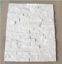 Crystal White Cultured Stone for Wall Cladding