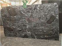 Silver Black Markino Granite Slabs
