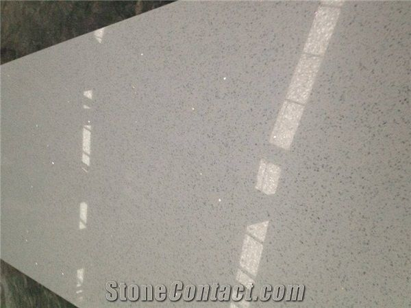 Engineered Stone Sparkle White Quartz Slab