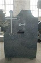 G654 Granite Tombstone & Monument,China Black Granite Gravestone & Cross Headstone Sesame Black China impala Padang Black pingnan zhima hei china nero new impala dark grey for Romania market