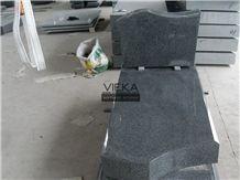 G654 Granite Tombstone & Monument,China Black Granite Gravestone & Headstone Sesame Black China Impala Padang Black Pingnan Zhima Hei China Nero New Impala Dark Grey for Middle East Market