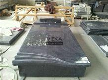 G654 Granite Tombstone & Monument,China Black Granite Gravestone & Headstone Sesame Black China Impala Padang Black Pingnan Zhima Hei China Nero New Impala Dark Grey for Poland Market Cover Plate