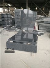 G654 Granite Tombstone & Monument,China Black Granite Gravestone & Headstone Sesame Black China Impala Padang Black Pingnan Zhima Hei China Nero New Impala Dark Grey