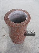 Granite Tombstone Monument Memorials 005 Vase