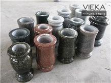 Granite Tombstone Monument Memorials 019 Vase
