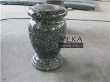 Grey Granite Tombstone Monument Memorials 011 Vase