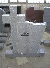 Grey Granite Tombstone & Monument,Memorials,Gravestone & Cross Headstone Romania Style