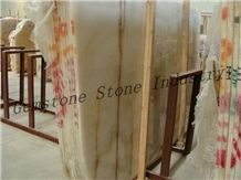 Natural Stone Polished Onyx Slabs, Pakistan Brown Onyx