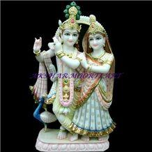 Makrana Albeta Marble Radha Krishna Statue
