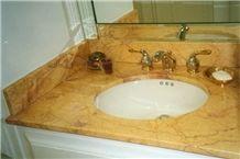 Giallo Siena Broccatello Marble Vanity Top