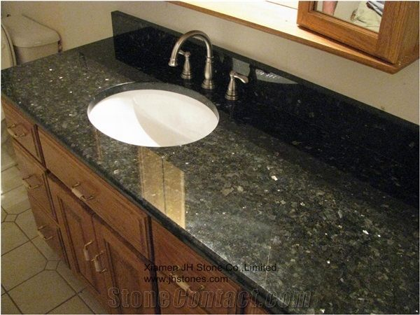 Granite Bathroom Vanity Tops pearl green granite bathroom vanity tops from china - stonecontact