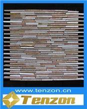 Intensive Bamboo Series Marble Mosaic, Karabuk Coffee Brown Marble Mosaic