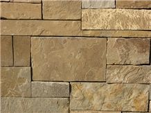 Cranford Blend Squares and Recs Dry Wall Thin Veneer, Cranford Blend Sandstone Cultured Stone