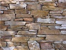 Golden Brown Schist Thin Stone Veneer, Building Stone, Golden Brown Schist Slate Thin Stone Veneer