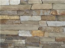 Golden Canadian Dry Stack Thin Stone Veneer, Golden Sand Canadian Sandstone Thin Stone Veneer