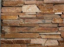 Plum Quartzite Stack Dry Wall