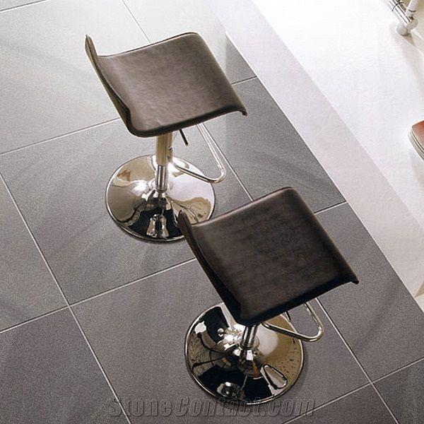 Black Glazed Full Body Glossy Surface Porcelain Floor Tile Living Room