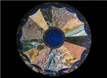 Lapis Lazuli Inlaid Specimen Marble Table Top