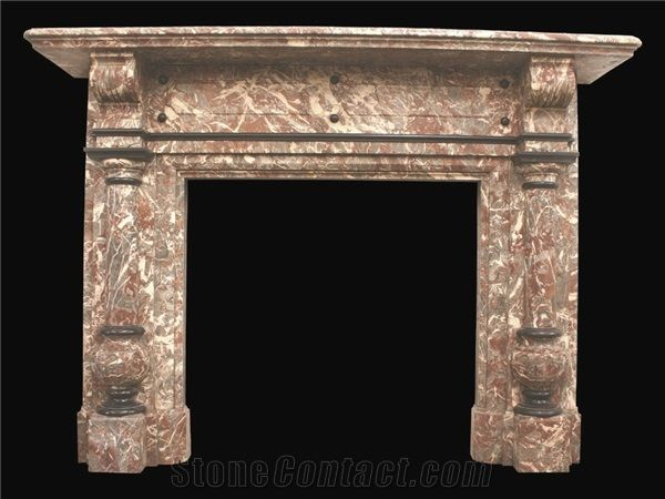 Antique Victorian Rouge Royal Marble, Antique Victorian Fireplace Surround