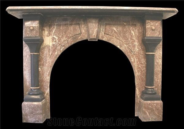 Astounding Reclaimed Antique Victorian Rouge Marble Fireplace Interior Design Ideas Ghosoteloinfo