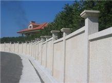 Blanco Alba Granite Garden Fence