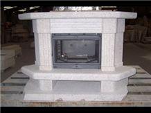 Crema Champan Granite Fireplace