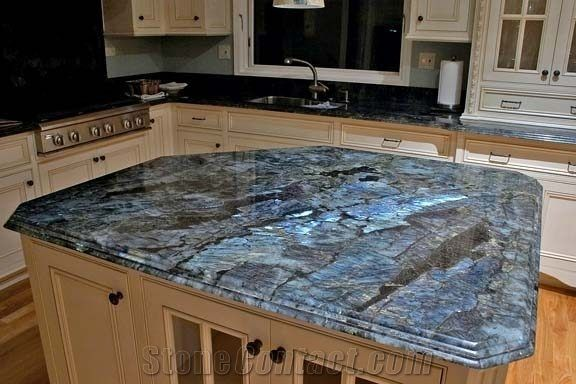 Labradorite Blue Granite Kitchen Countertop