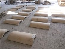 China Beige Marble Columns,Column Tops and Bases