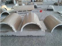 China Beige Marble Columns,Columns Tops and Bases