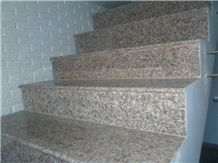 China Peach Red G687 Granite Stairs & Steps,China Blossom Red Granite,Pink Granite Steps