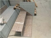 China Red Granite Stair & Steps,Treads and Risers