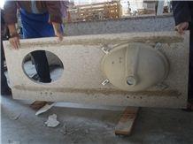 Granite Vanity Tops,China Yellow Granite Bath Top